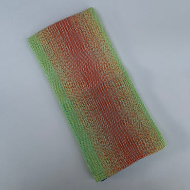 Handwoven Towel - Rainbow and Light Blue