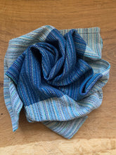 Load image into Gallery viewer, Handwoven Towel - Navy Blue & Grey