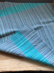 Handwoven Towel - Grey and Teal
