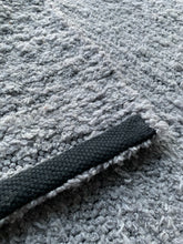 Load image into Gallery viewer, Wool and Cotton Handwoven Rug - Solid Grey Large