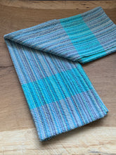 Load image into Gallery viewer, Handwoven Towel - Grey and Teal