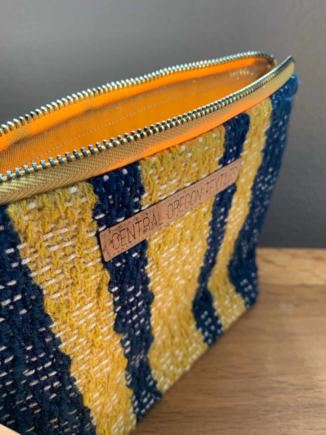 Large Gusseted Bag - Yellow and Blue