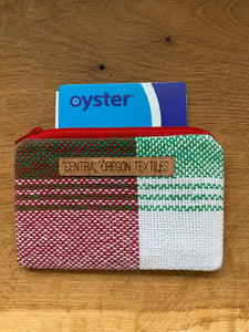 Coin Purse - Red, White and Green