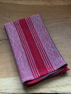 Handwoven Towel - Christmas Red