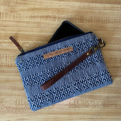Large Clutch - Blue and White