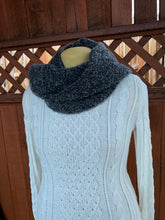 Load image into Gallery viewer, Black and Grey Bamboo and Wool Scarf