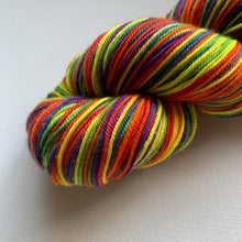 Load image into Gallery viewer, Superwash Merino Wool - Rainbow Striping Yarn