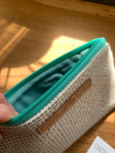 Load image into Gallery viewer, Medium Clutch - Teal and Grey