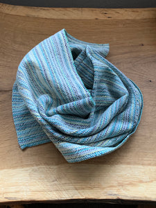 Handwoven Towel - Grey and White