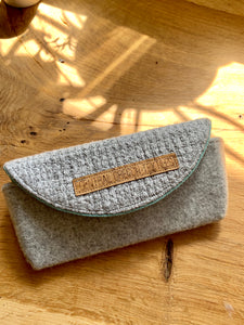 Sunglass Case - Grey and Teal