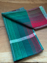 Load image into Gallery viewer, Handwoven Towel - Christmas Green and Red