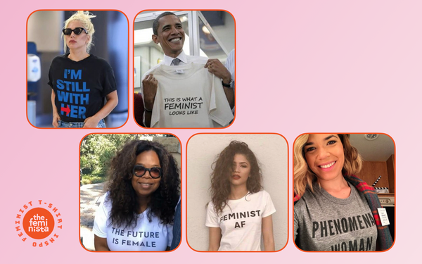 Style Inspiration: Celebrities in Feminist T Shirts