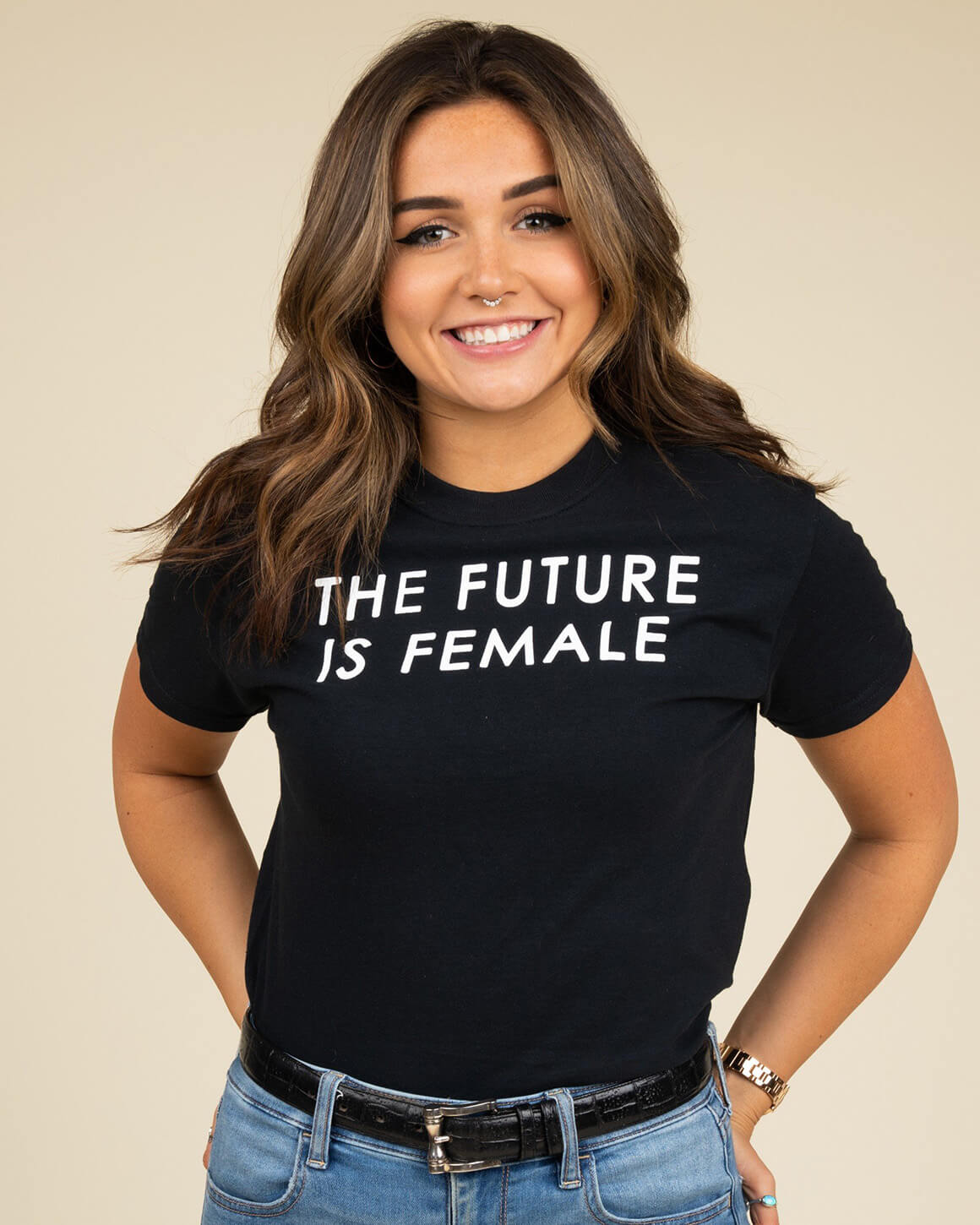 Black the future is female shirt for men and women