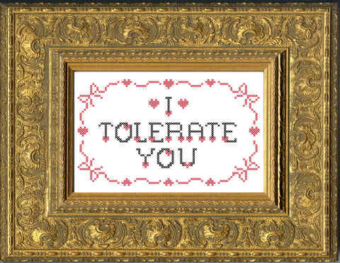 PDF: Mr. Stevers Valentine: I Tolerate You