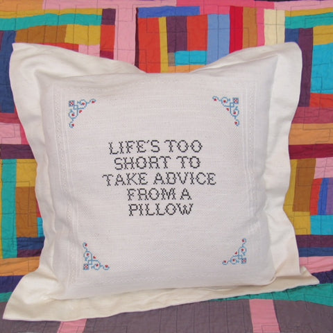 Life's Too Short Square Pillow Case Deluxe Kit