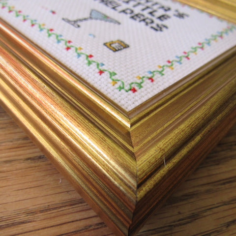Square gold frame: 5x5 inches