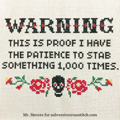 Instantly Delivered Pdfs Subversive Cross Stitch