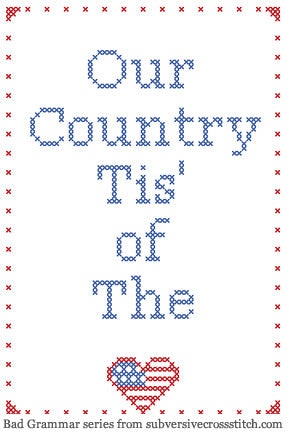 PDF: Bad Grammar Series - Our Country Tis of The