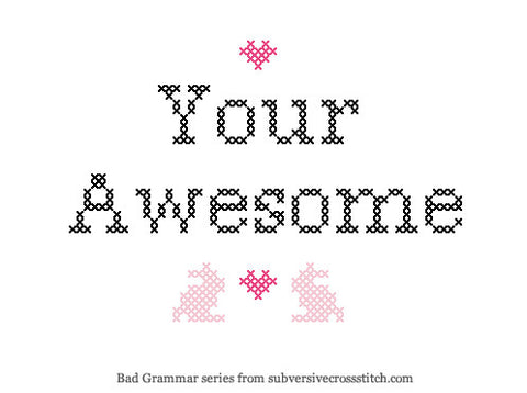 PDF: Bad Grammar Series - Your Awesome