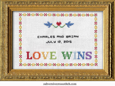 PDF: Gay Wedding Sampler - Love Wins