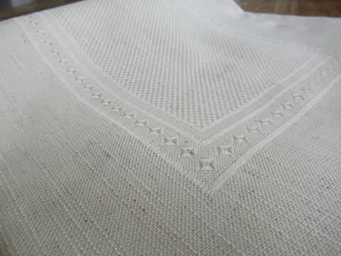 Stitchable Linen-Blend Square Pillow Case in Natural Color