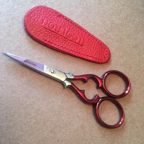 Ruby Red Victorian Embroidery Scissors