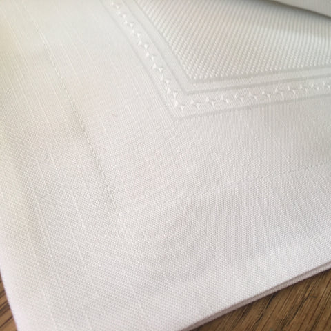Stitchable Linen-Blend Square Pillow Case in White