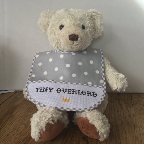 Baby Bib Kit: Tiny Overlord