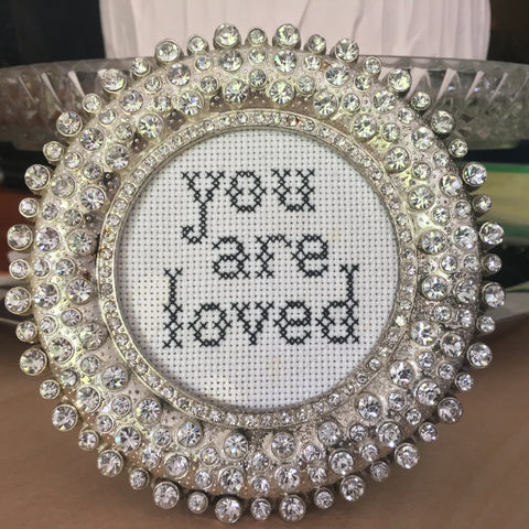 You Are Loved Rhinestone Frame Kit