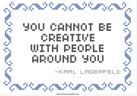 PDF: Karl Lagerfeld: You Cannot Be Creative With People Around You