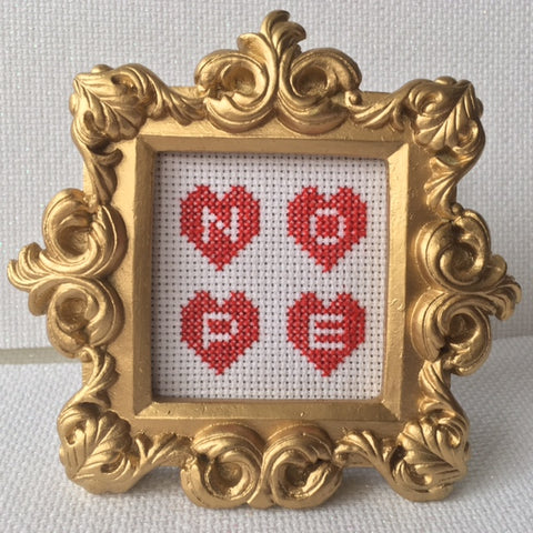 Small Ornate Frame Kit: NOPE Hearts