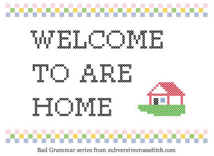 PDF: Bad Grammar Series - Welcome To Are Home