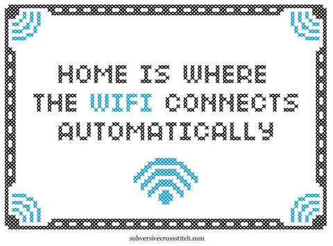 pdf home is where the wifi connects automatically subversive cross stitch. Black Bedroom Furniture Sets. Home Design Ideas