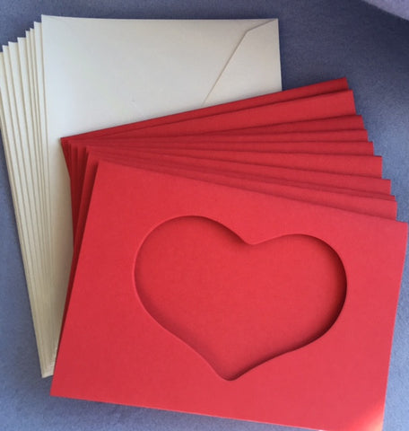 Small Heart cards, set of ten