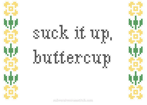PDF: Suck It Up, Buttercup