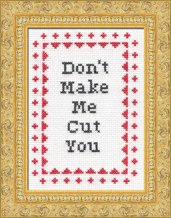 PDF: Don't Make Me Cut You