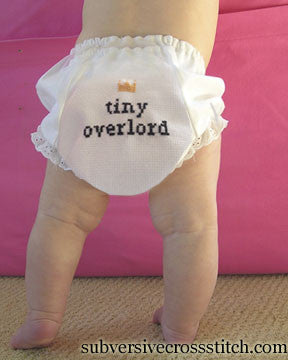PDF: Baby Bloomer pattern: Tiny Overlord