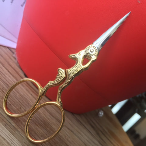 Bohin Gilded Rabbit Embroidery Scissors