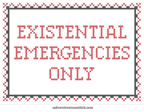 PDF: Existential Emergencies Only