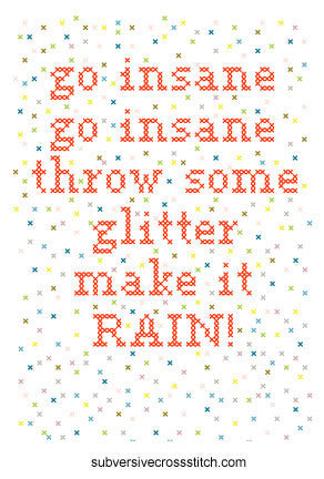 PDF: go insane go insane throw some glitter...