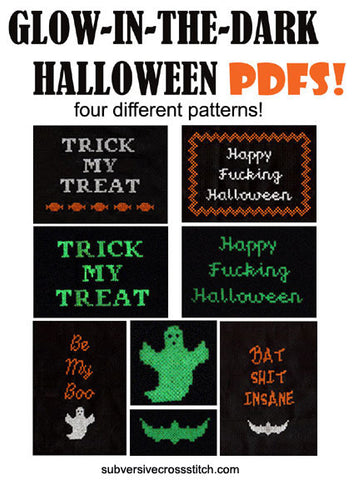 PDF: Set of four glow-in-the-dark Halloween...