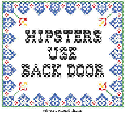 PDF: Hipsters Use Back Door
