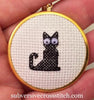 Round Pendant Kit for cross stitch