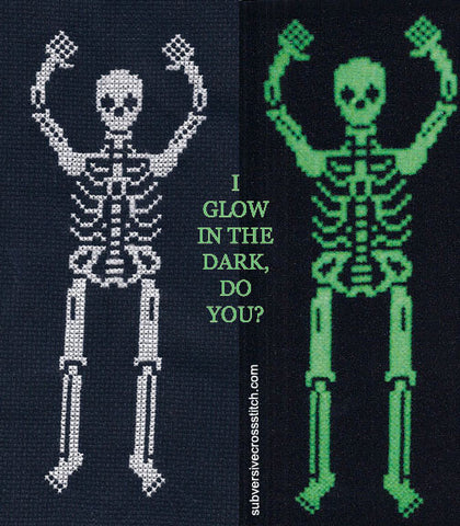 PDF: Glow-in-the-dark skeleton!