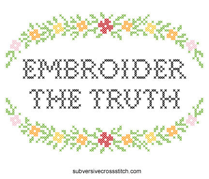 PDF: Embroider The Truth