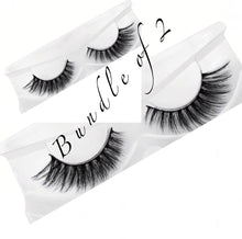 Load image into Gallery viewer, Natural Long 3D Mink Lashes ( Bundle Of 2 )