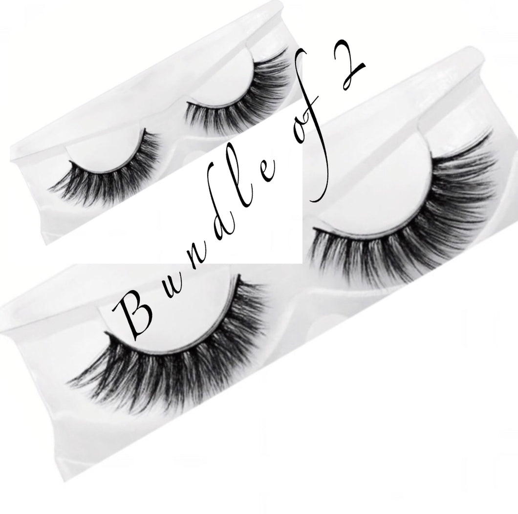 Natural Long 3D Mink Lashes ( Bundle Of 2 )
