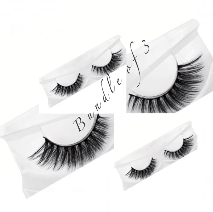 Natural 3D Mink Lashes Bundle Of 3