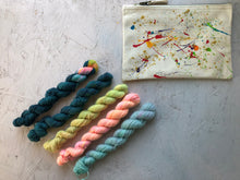 "Load image into Gallery viewer, Mini sock yarn ""Sunshine on a cloudy day"" kits- BFL - 4ply"