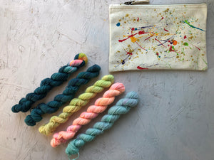 "Mini sock yarn ""Sunshine on a cloudy day"" kits- BFL - 4ply"